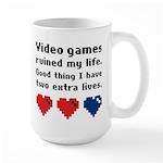 Video Games Ruined My Life. Large Mug