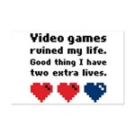 Video Games Ruined My Life. Mini Poster Print