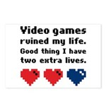 Video Games Ruined My Life. Postcards (Package of