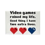 Video Games Ruined My Life. Rectangle Magnet (10 p