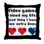 Video Games Ruined My Life. Throw Pillow