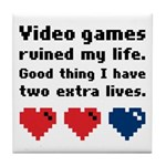 Video Games Ruined My Life. Tile Coaster
