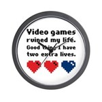 Video Games Ruined My Life. Wall Clock