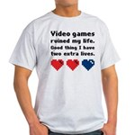 Video Games Ruined My Life. Light T-Shirt