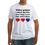 Video Games Ruined My Life. Fitted T-Shirt