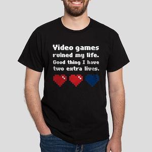 Video Games Ruined My Life. Dark T-Shirt