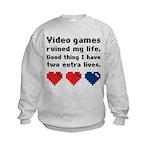 Video Games Ruined My Life. Kids Sweatshirt