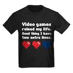 Video Games Ruined My Life. Kids Dark T-Shirt