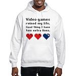 Video Games Ruined My Life. Hooded Sweatshirt