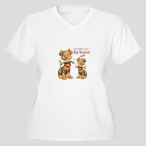 Dogs Big Brother Again Women's Plus Size V-Neck T-