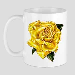 Painted Yellow Rose Mug