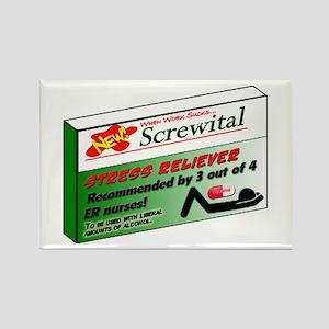 Screwital! Rectangle Magnet
