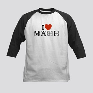 I Love Math Kids Baseball Jersey