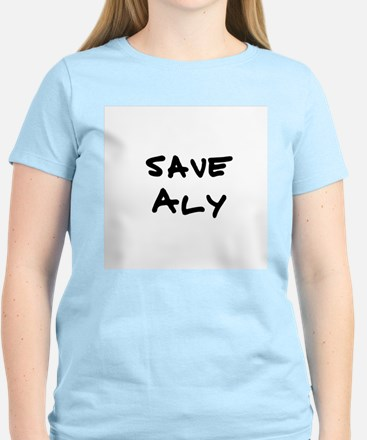 Save Aly Women's Pink T-Shirt