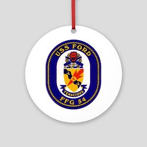 USS Ford FFG-54 Ornament (Round)
