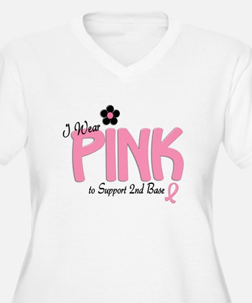 I Wear Pink To Support 2nd Base 14 T-Shirt