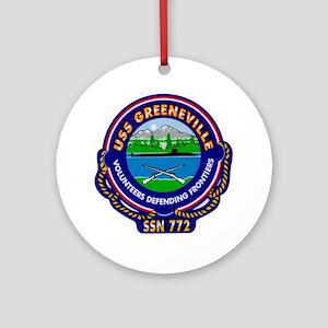 USS Greeneville SSN-772 Ornament (Round)