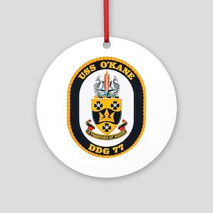 USS O'Kane DDG-77 Ornament (Round)