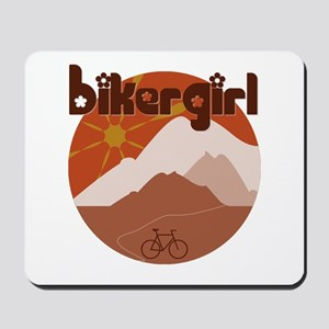 BikerGirl Sunset Sky Mousepad
