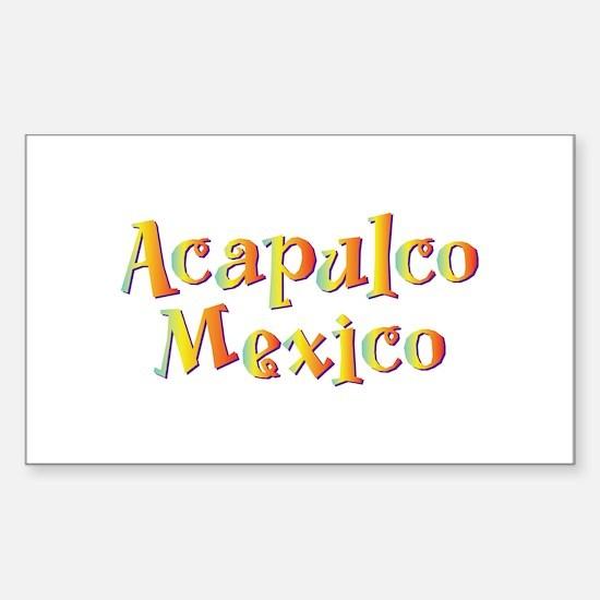 Acapulco Mexico - Rectangle Decal