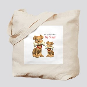 Dogs Big Sister Tote Bag