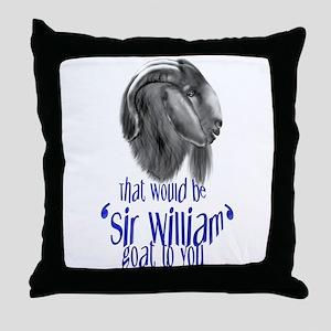 Boer Goat Sir William Throw Pillow