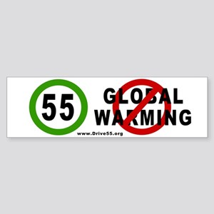 Drive 55-Stop Global Warming Bumper Sticker
