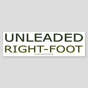Unleaded Right Foot Bumper Sticker