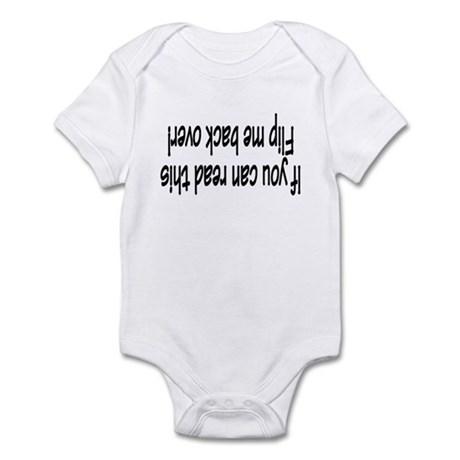 If You Can Read This, Flip Me Back Over! Infant Bo