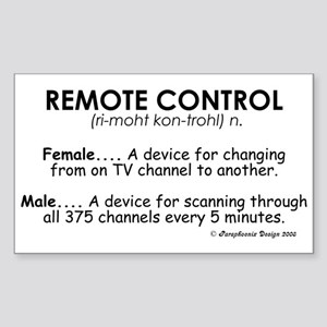Meaning of Remote Control Rectangle Sticker