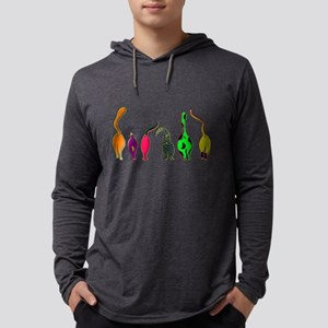 Colorful Cat Butts Long Sleeve T-Shirt