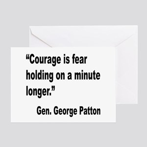 Patton Courage Fear Quote Greeting Card