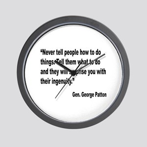 Patton Ingenuity Quote Wall Clock