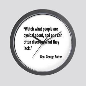 Patton Cynical People Quote Wall Clock