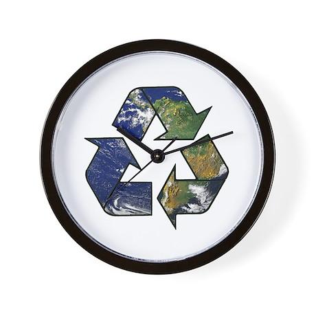Recycle Earth Wall Clock