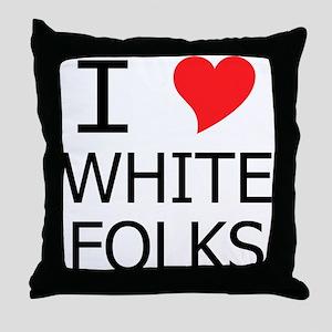 I Heart White Folks Throw Pillow