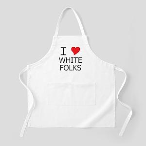 I Heart White Folks BBQ Apron