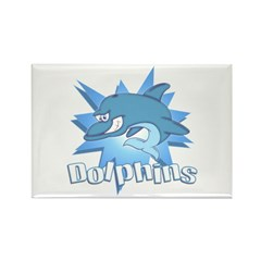 Dolphins Rectangle Magnet (10 pack)