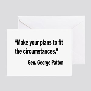 Patton Planning Quote Greeting Card