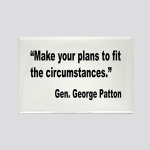 Patton Planning Quote Rectangle Magnet