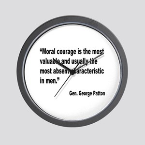 Patton Moral Courage Quote Wall Clock