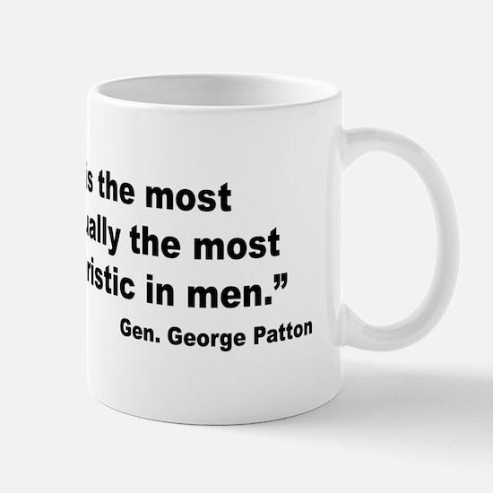 Patton Moral Courage Quote Mug