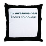 My Awesome-ness Blue Throw Pillow