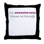 My Awesome-ness Purple/Gray Throw Pillow