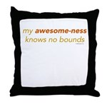 My Awesome-ness Orange Throw Pillow