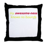 My Awesome-ness Yellow Throw Pillow
