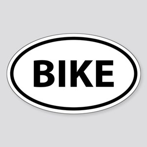 BIKE Oval Sticker