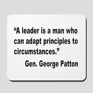 Patton Leader Quote Mousepad