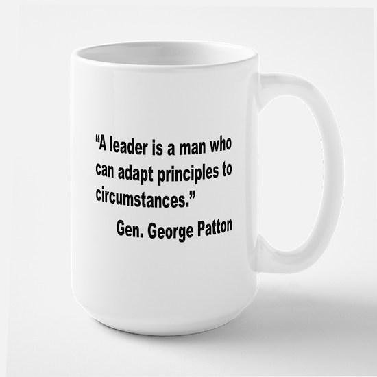 Patton Leader Quote Large Mug