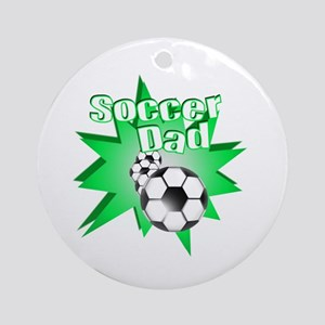 Soccer Dad Green Ornament (Round)